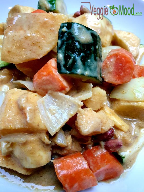 Recette curry vert de coings et panais au lait de coco