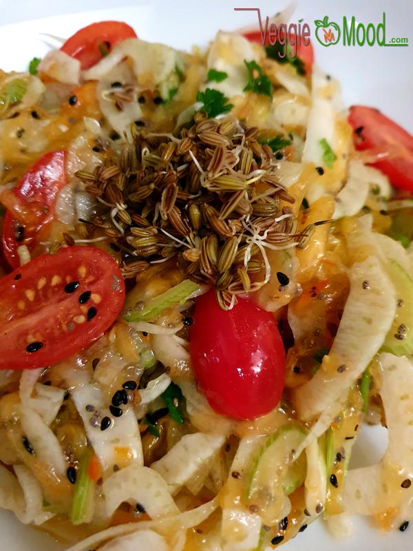 Salade de fenouil et kaki