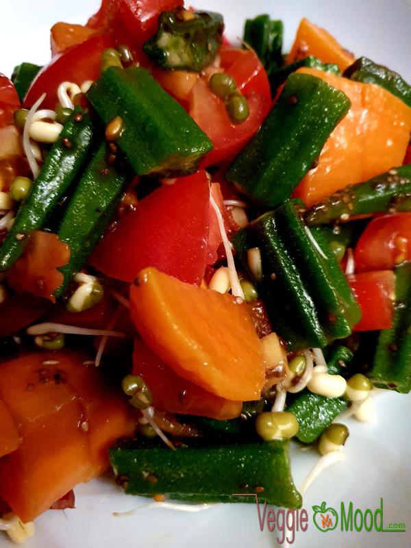 Recette salade de gombos et patates douce