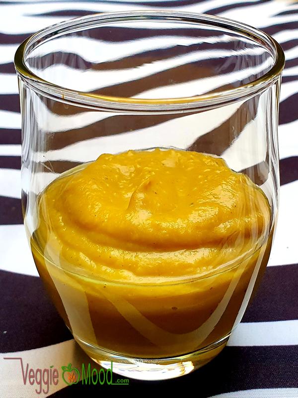 Crème de butternut et banane au lait de coco (Verrines)