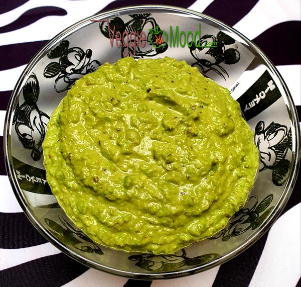 Pesto vegan aux petits pois