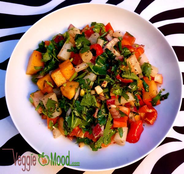 Recette salade de salsifis et de kakis