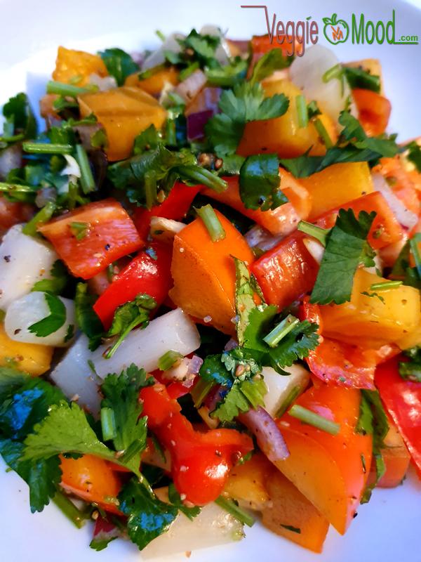 Salade de salsifis et de kakis