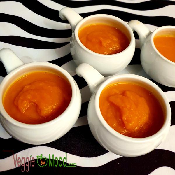 Recette mouliné de carottes à l'orange et au gingembre