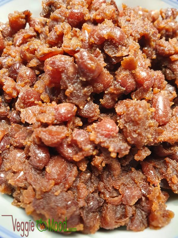 Ingrédients pâte de haricots rouges au sucre de coco (Anko)