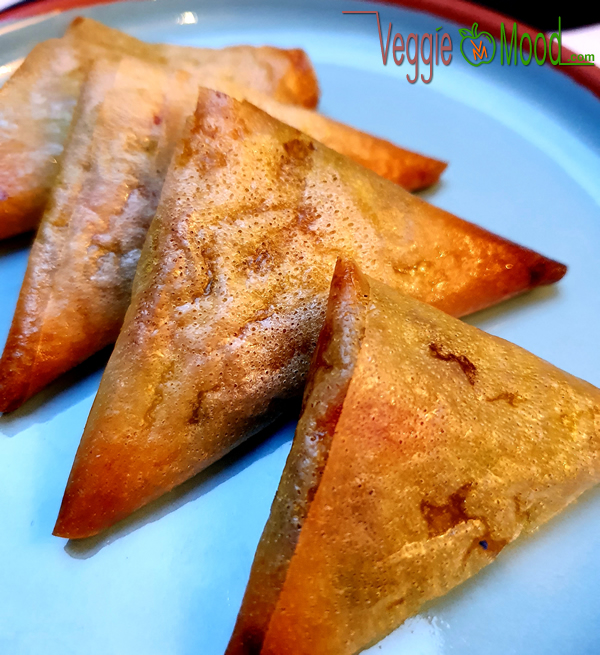 Samoussas vegan de légumes aux épices