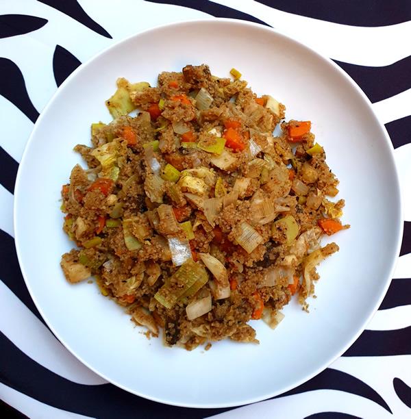 Fonio façon risotto (fonioto) au garam masala