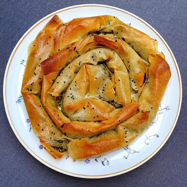 Croustade aux épinards (façon börek)