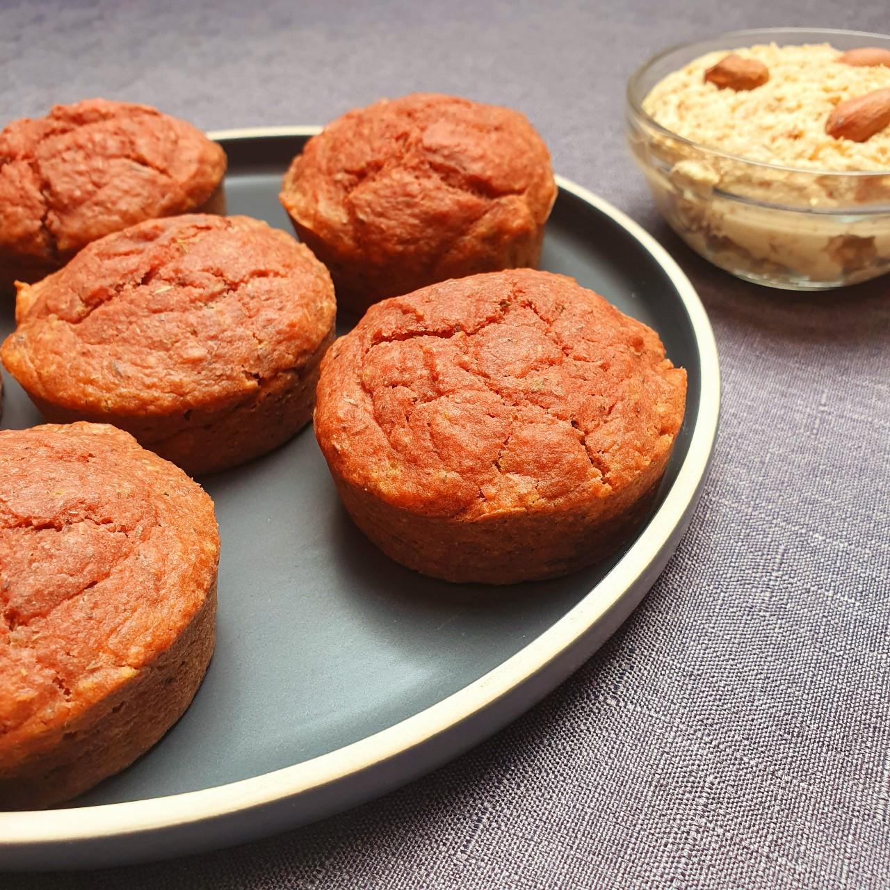 Muffins betterave et vromage aux cacahuètes