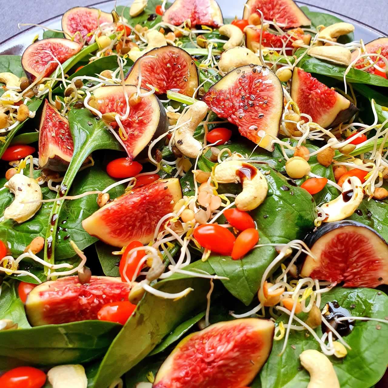 Salade Figues et épinards
