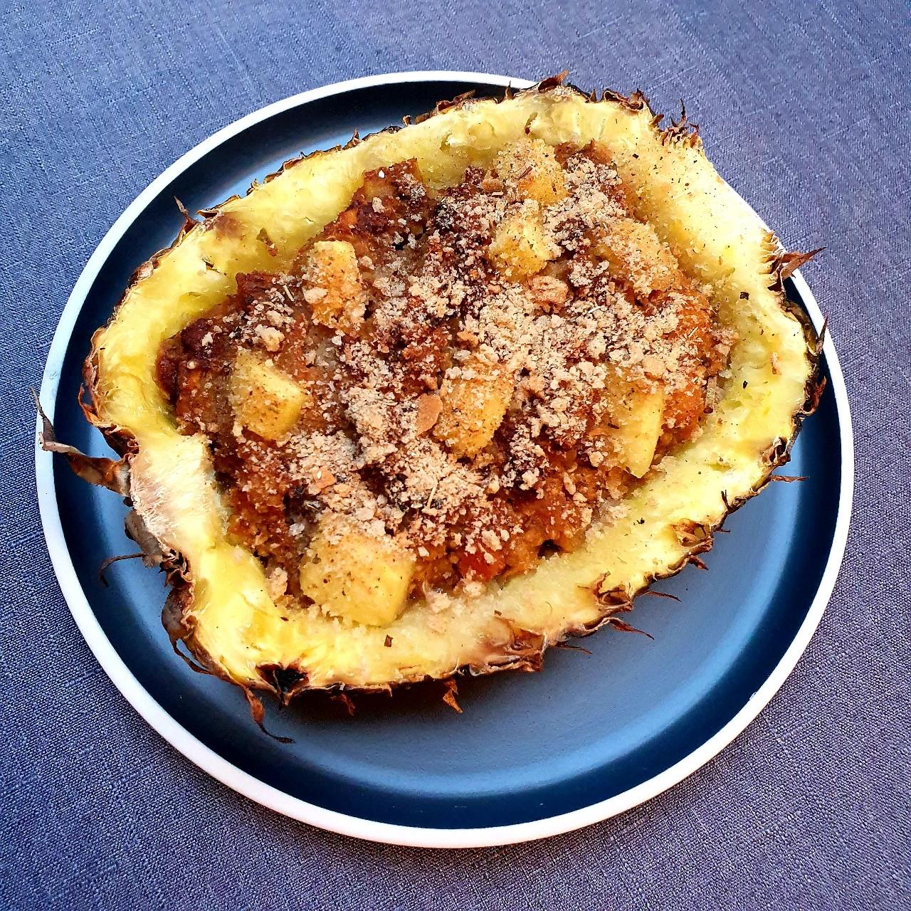 Ananas farci au quinoa
