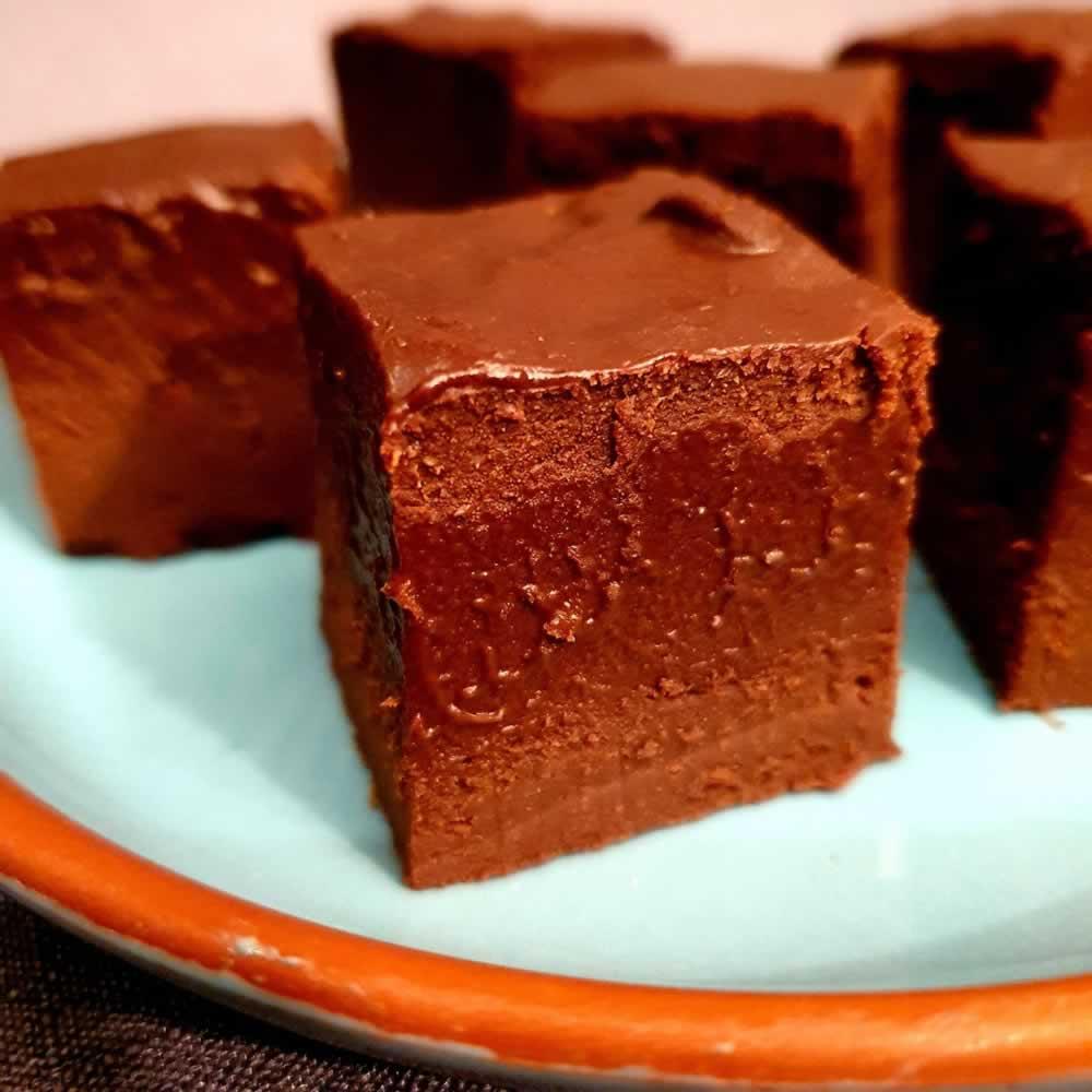 Fudge butternut et chocolat noir