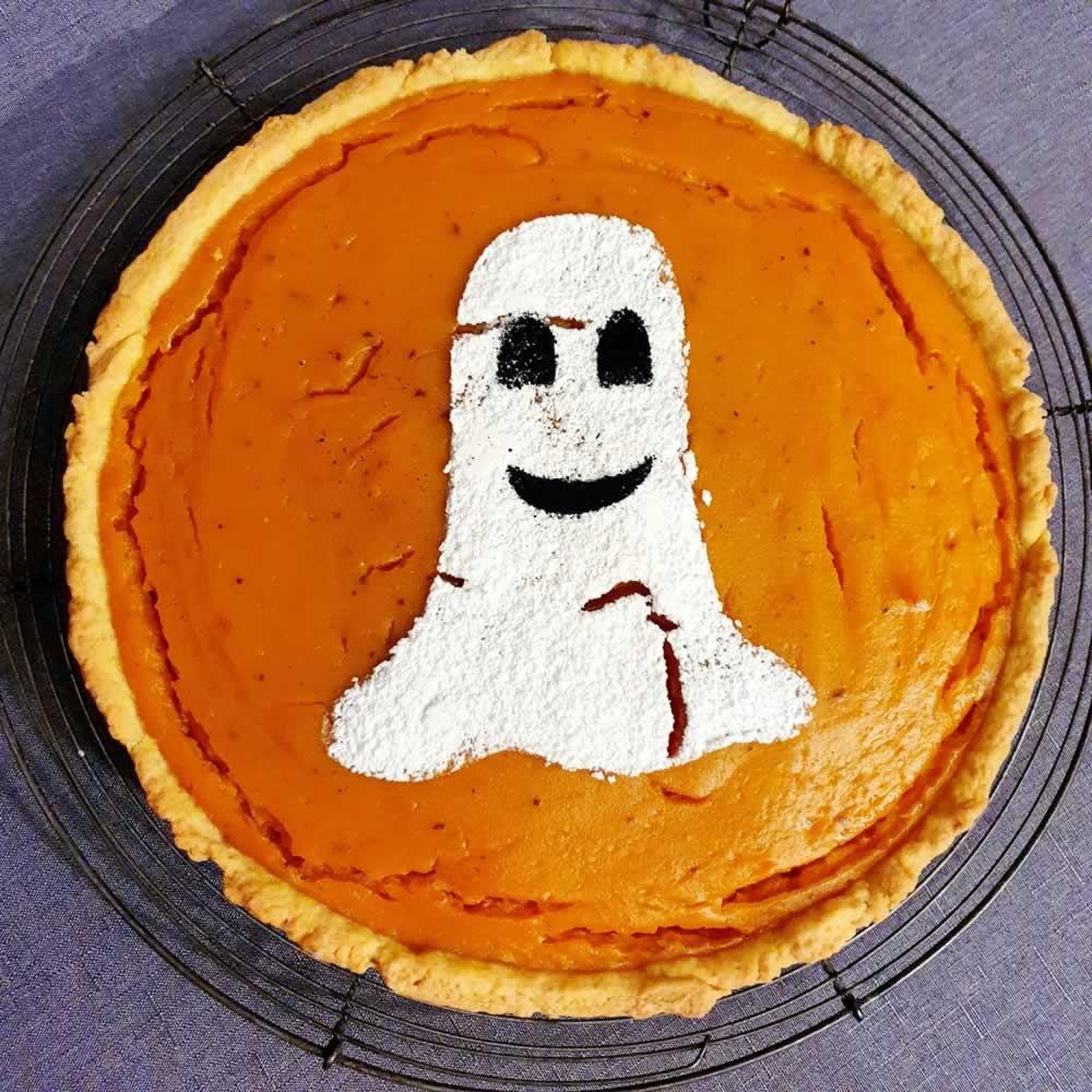 Tarte sucrée au potiron et épices (Halloween)