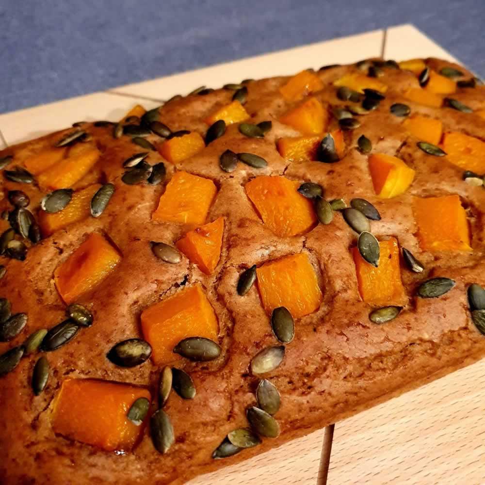 Cake rustique à la butternut