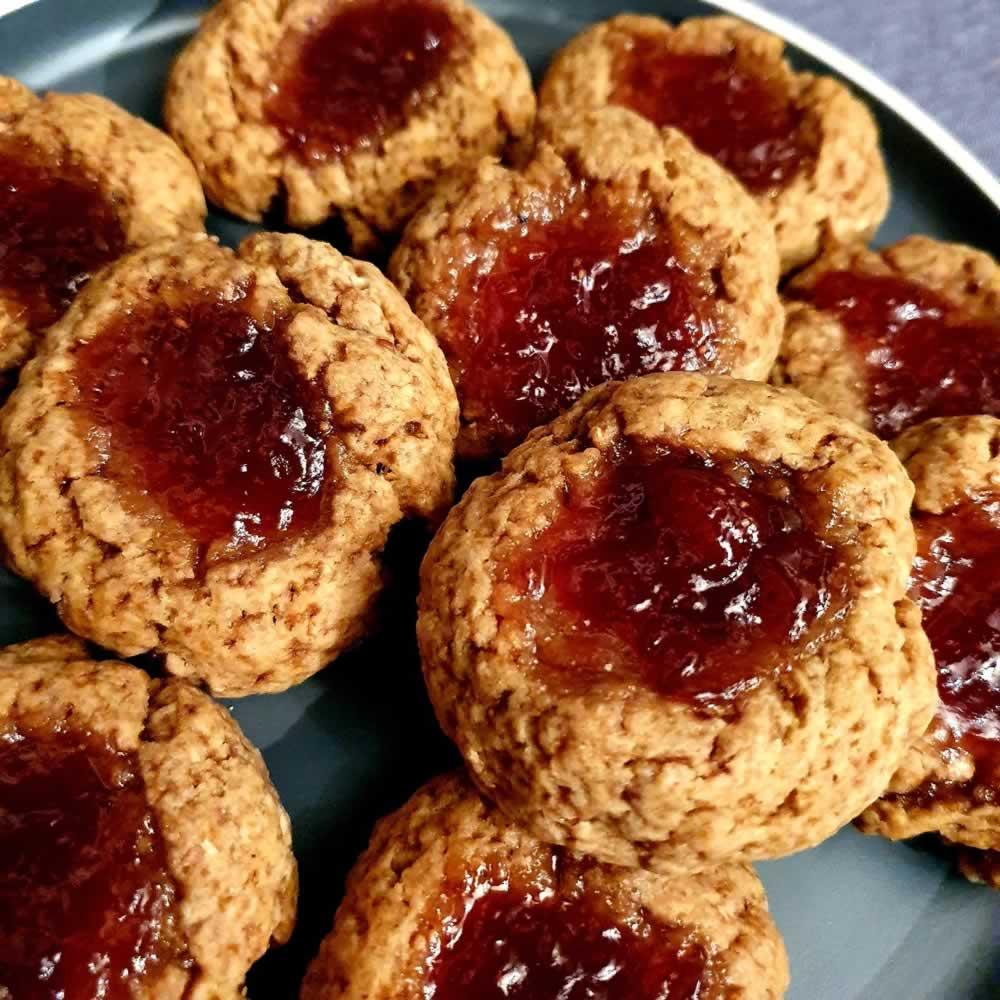 Biscuits à la farine de froment (vanille-fraise)