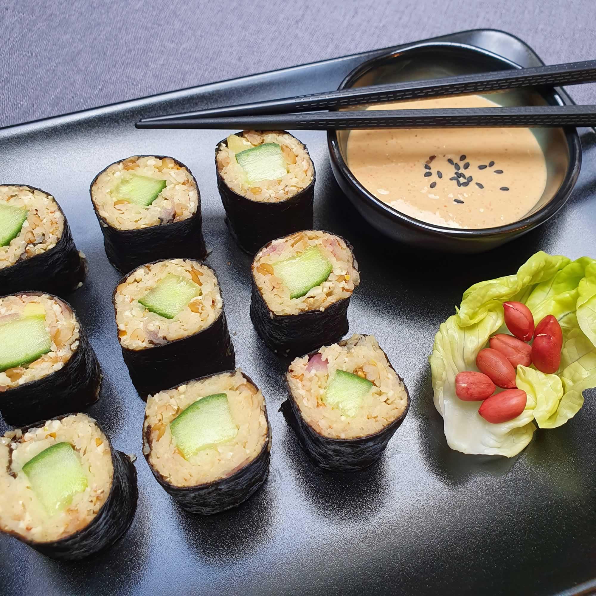 Maki sushi de céleri