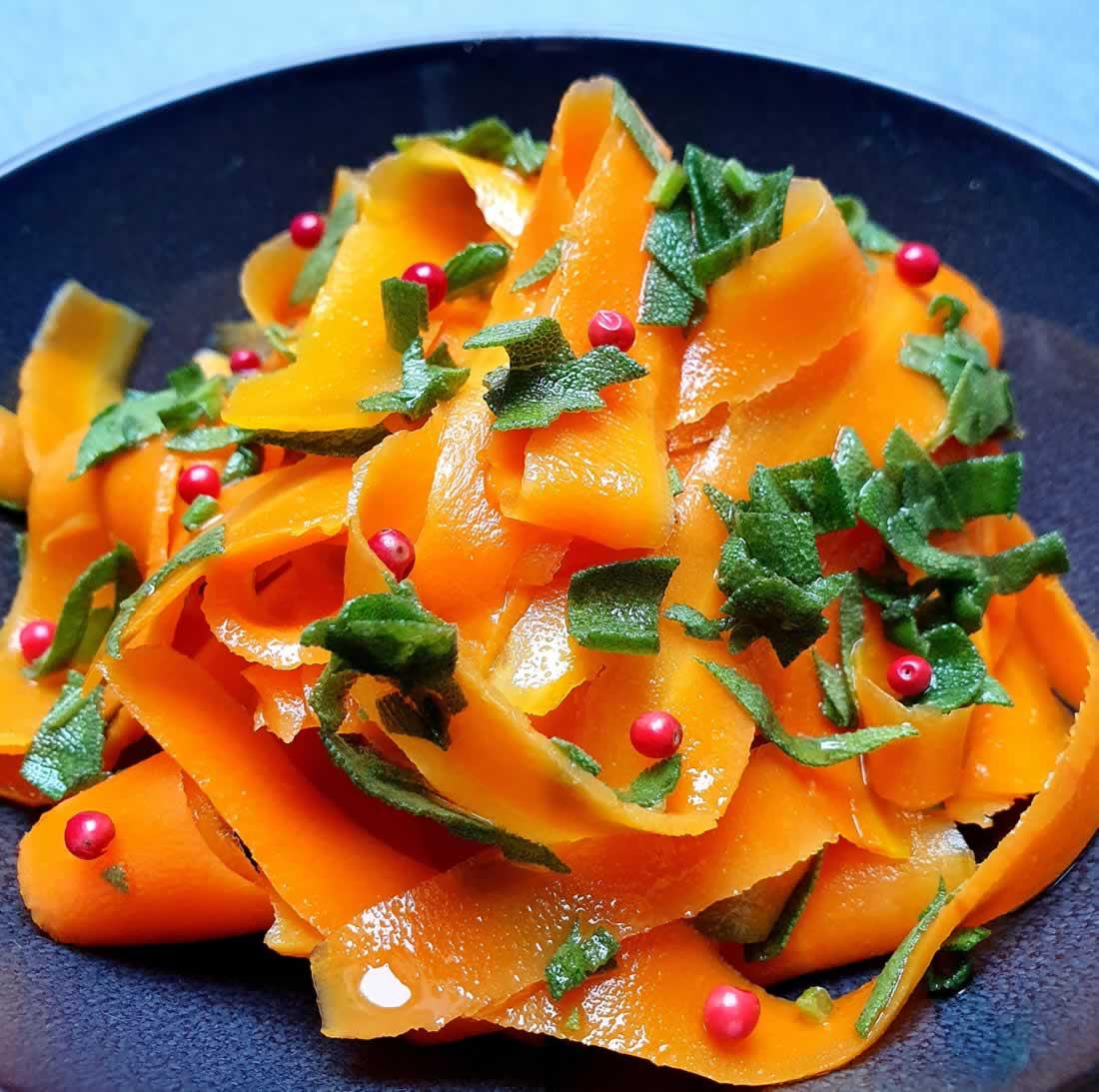 Tagliatelle de carottes à la sauge